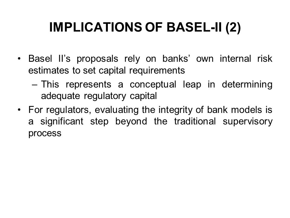 IMPLICATIONS OF BASEL-II (2)