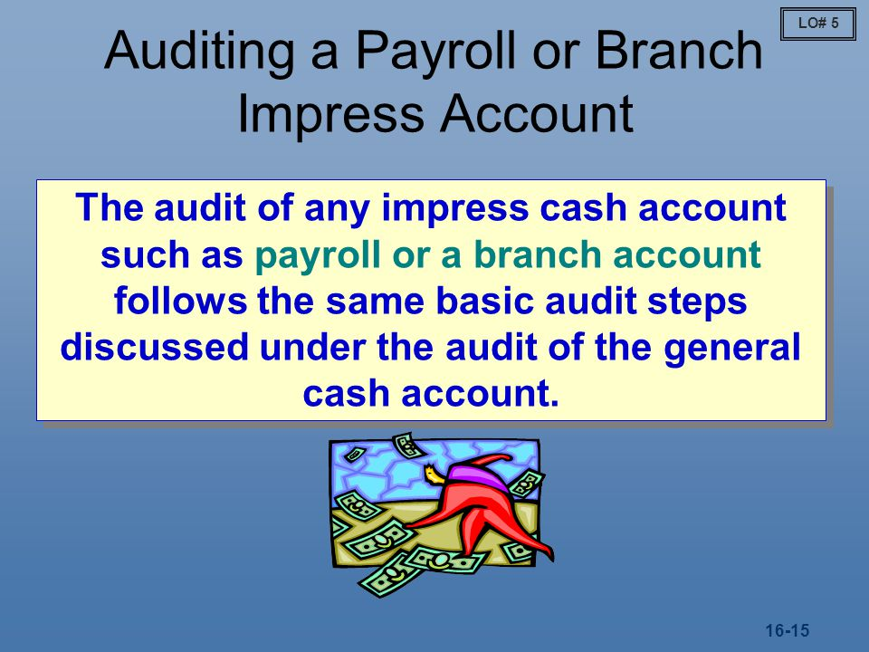 Auditing a Payroll or Branch Impress Account