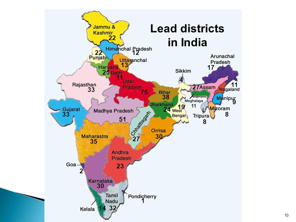 Lead districts in India