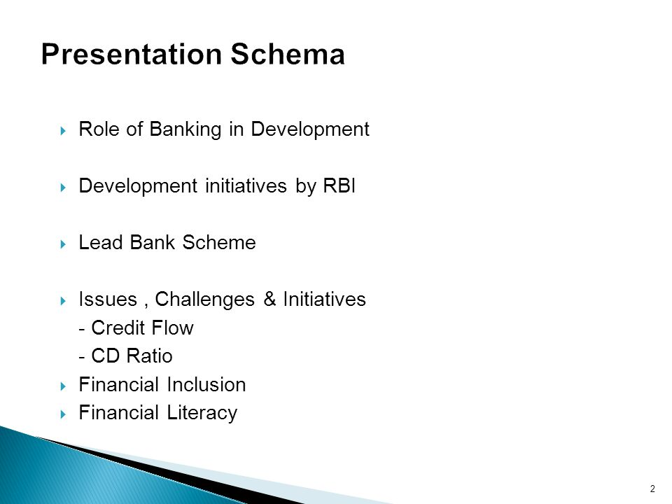 Presentation Schema Role of Banking in Development