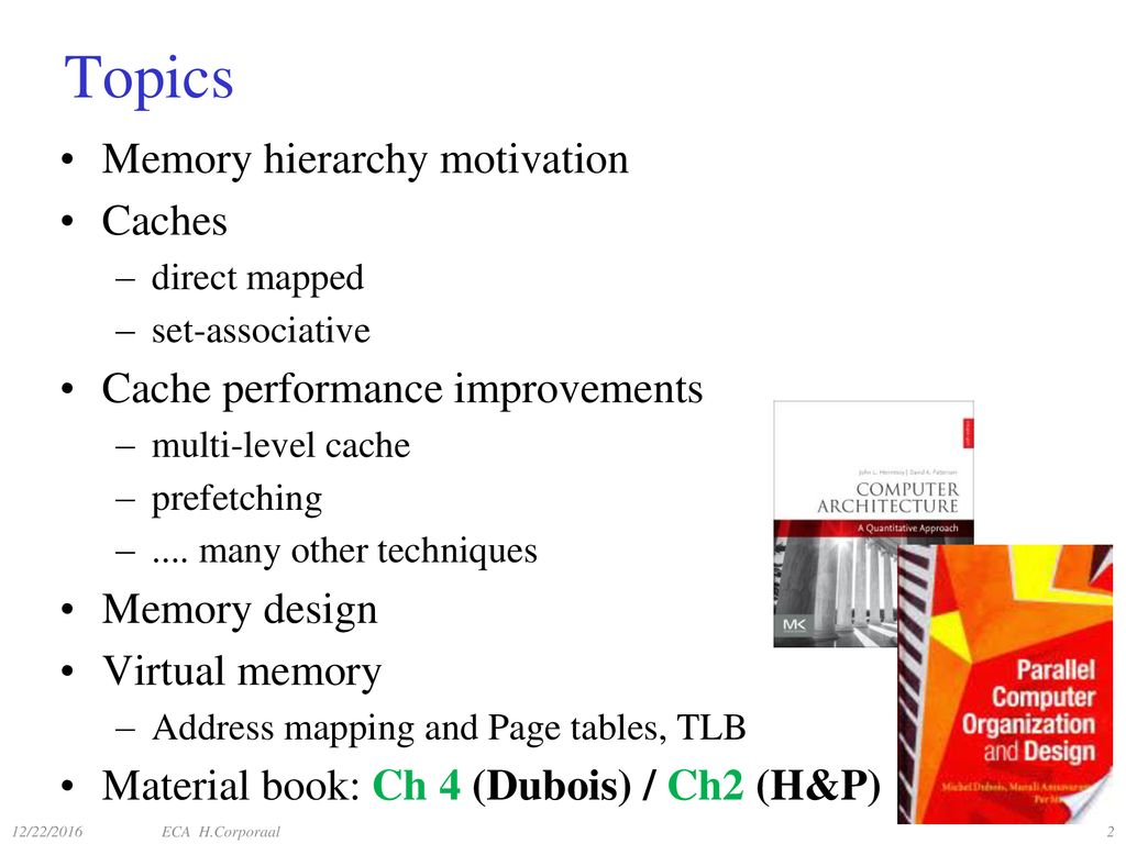 Embedded Computer Architecture 5sai0 Memory Hierarchy Ppt Download