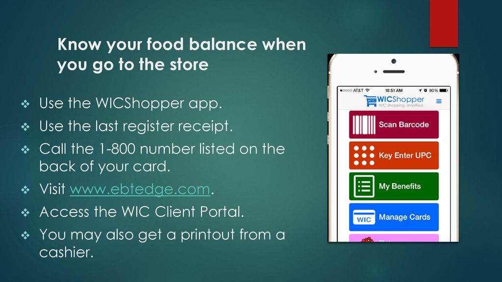 Shopping with your eWIC card - ppt download