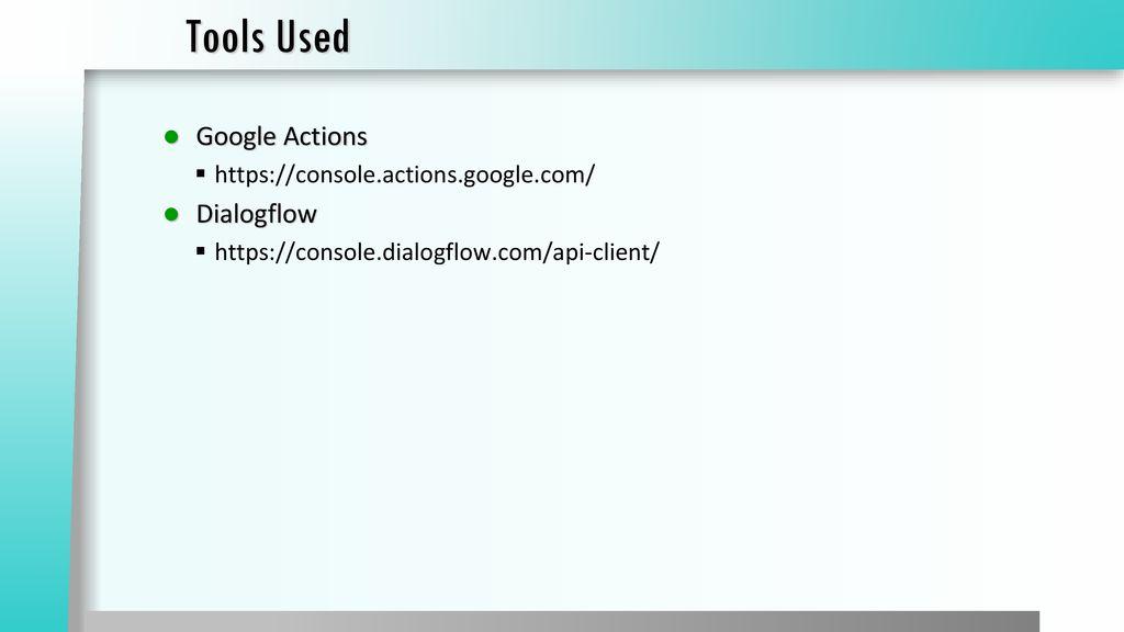 Dialogflow Ppt