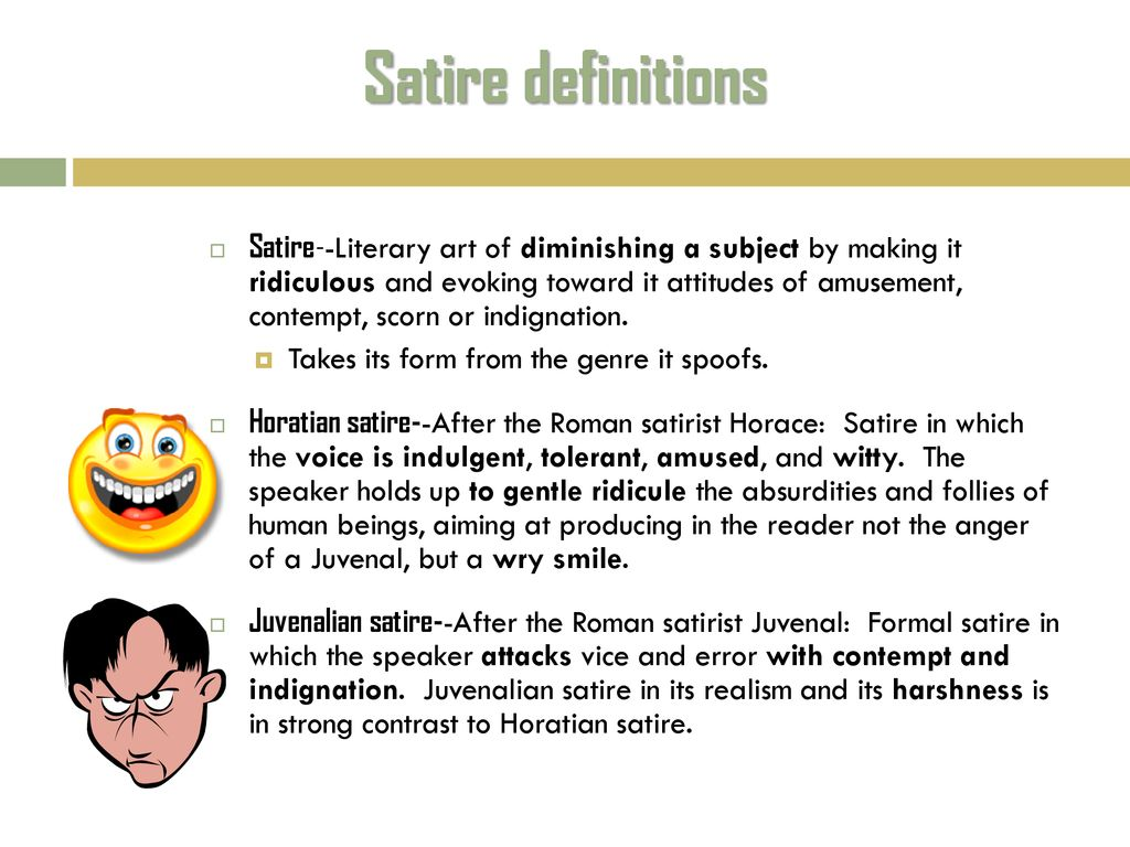 Unlocking The Satire Puzzle Ppt Download