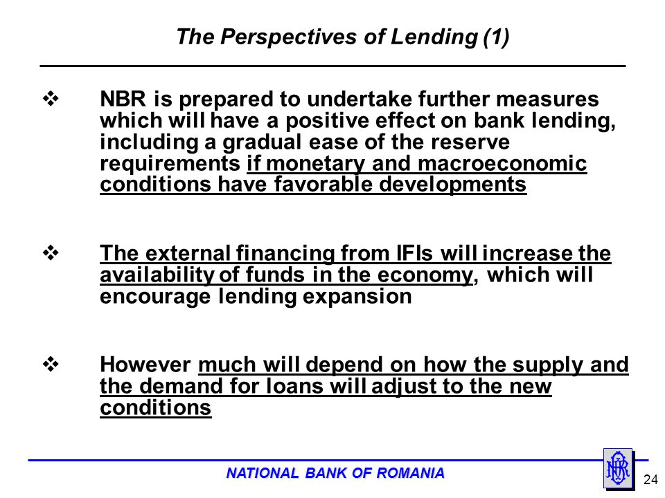 The Perspectives of Lending (1)