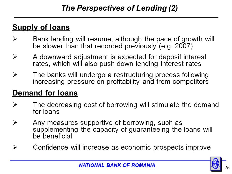 The Perspectives of Lending (2)