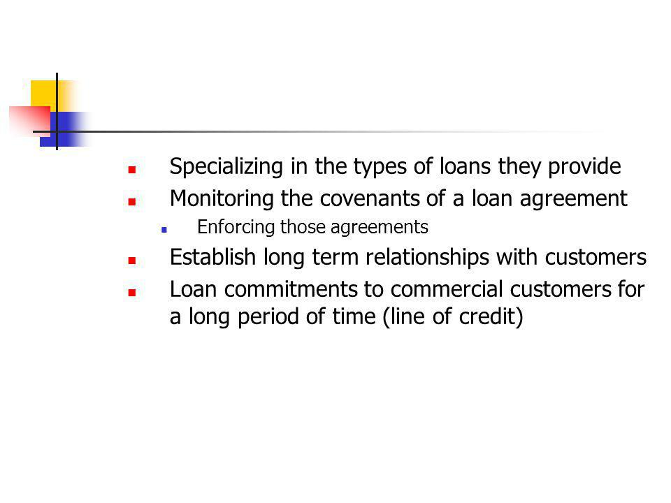 Specializing in the types of loans they provide