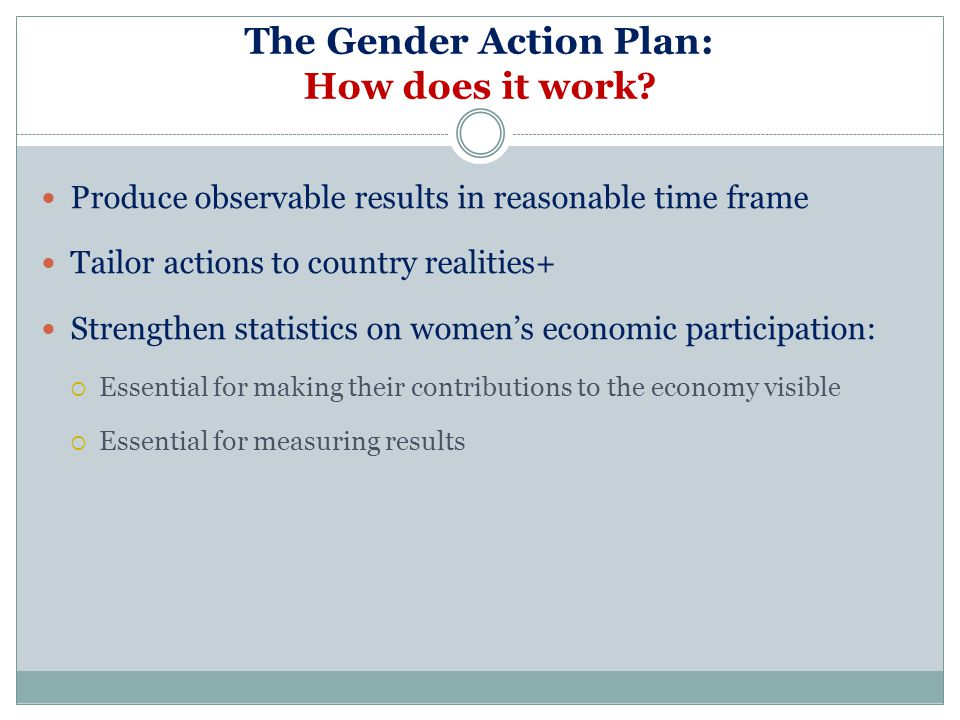 The Gender Action Plan: How does it work