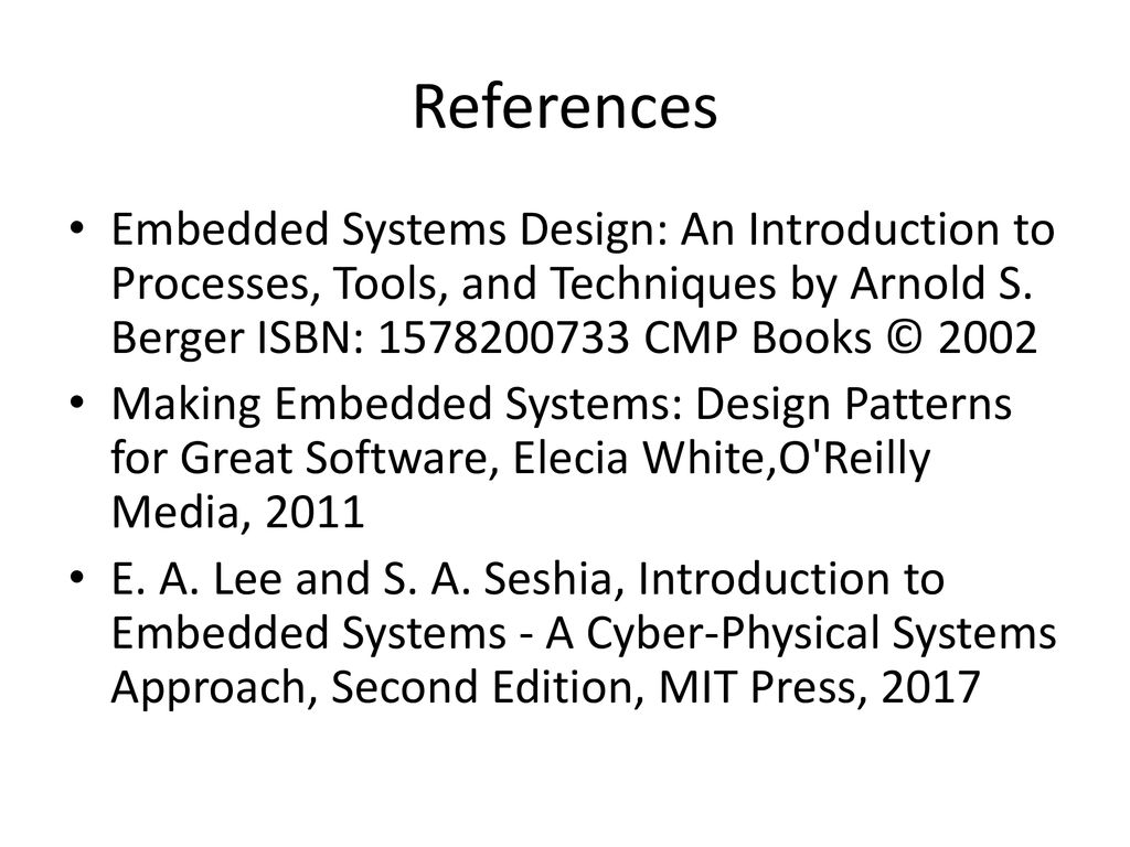 Tools Embedded Systems Design An Introduction To Processes And Techniques