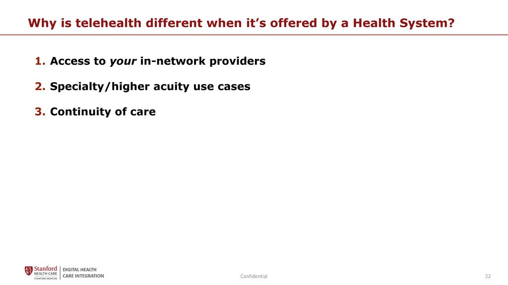 Telehealth Implementation: Case Study from an Academic Health System