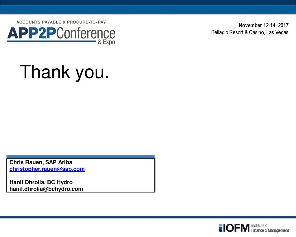 Chris Rauen, SAP Ariba Hanif Dhrolia, BC Hydro November 13, ppt download
