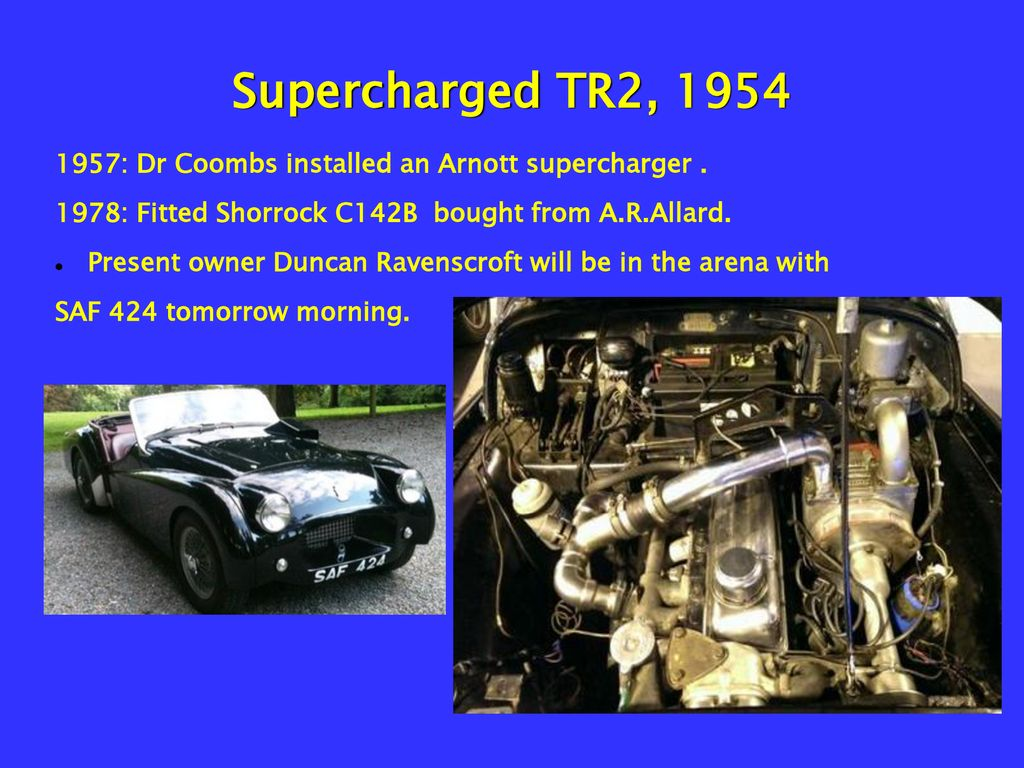 SUPERCHARGING TRs for the road - ppt download