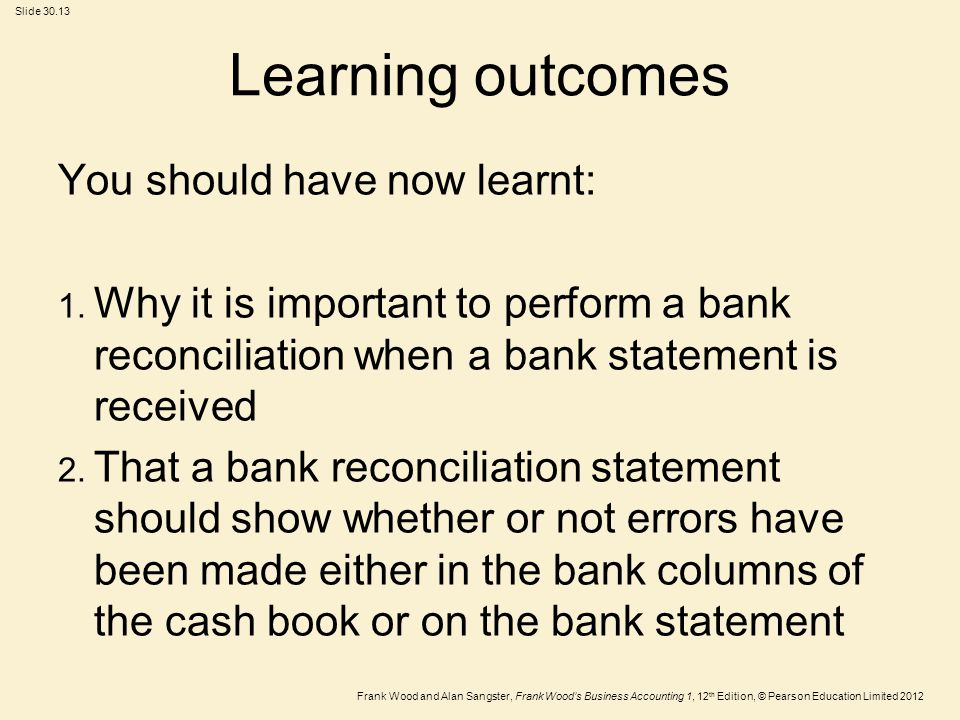 Learning outcomes You should have now learnt:
