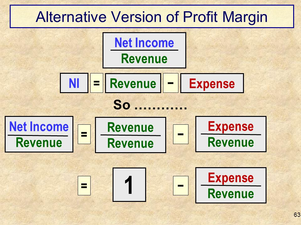 Alternative Version of Profit Margin