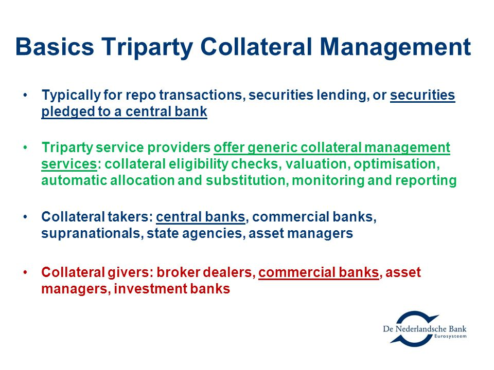Basics Triparty Collateral Management