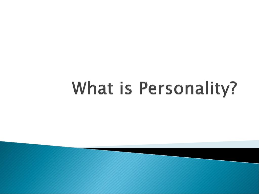 Theories Personality Assessment