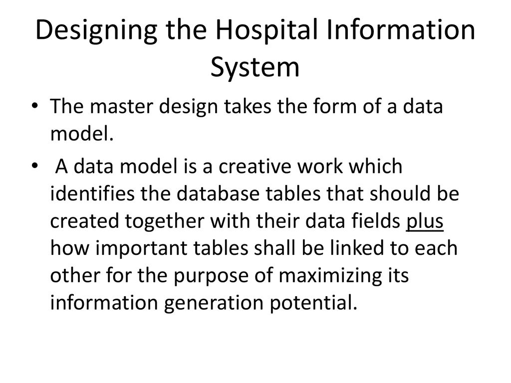 Developing A Computer Based Hospital Information System Ppt Download