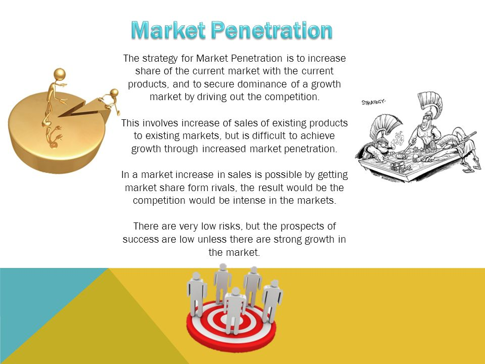 Increased market penetration
