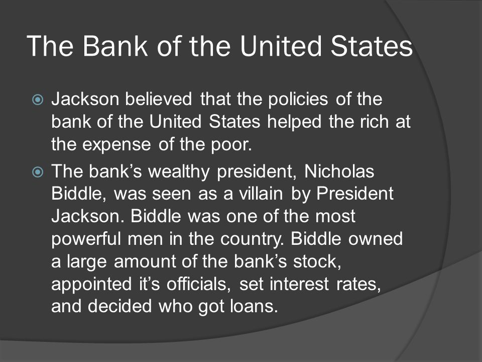 The Bank War And Its Effects Ppt Video Online Download