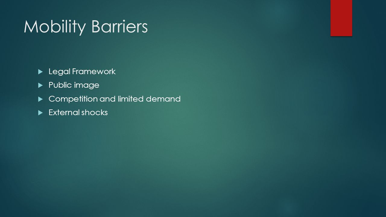 Mobility Barriers Legal Framework Public image