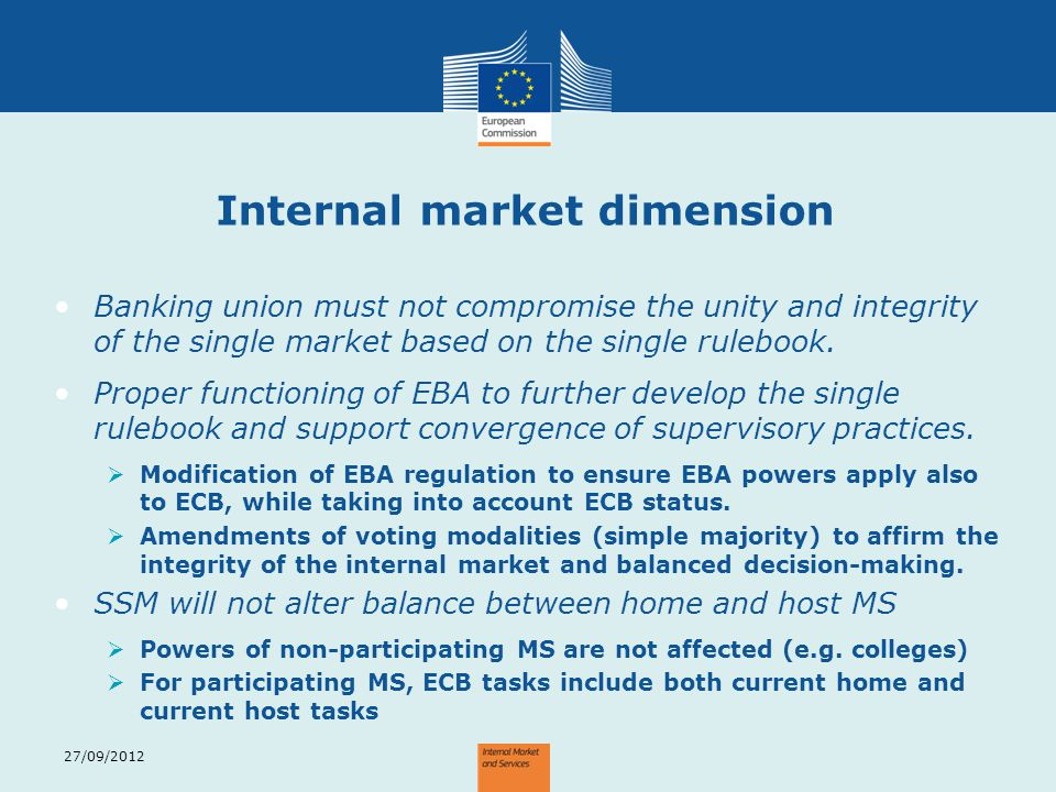 Internal market dimension