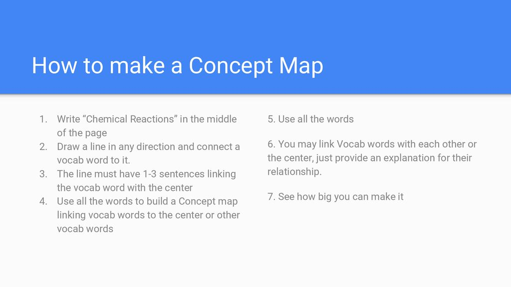How To Build A Concept Map.Concept Map Chemical Reactions Ppt Download