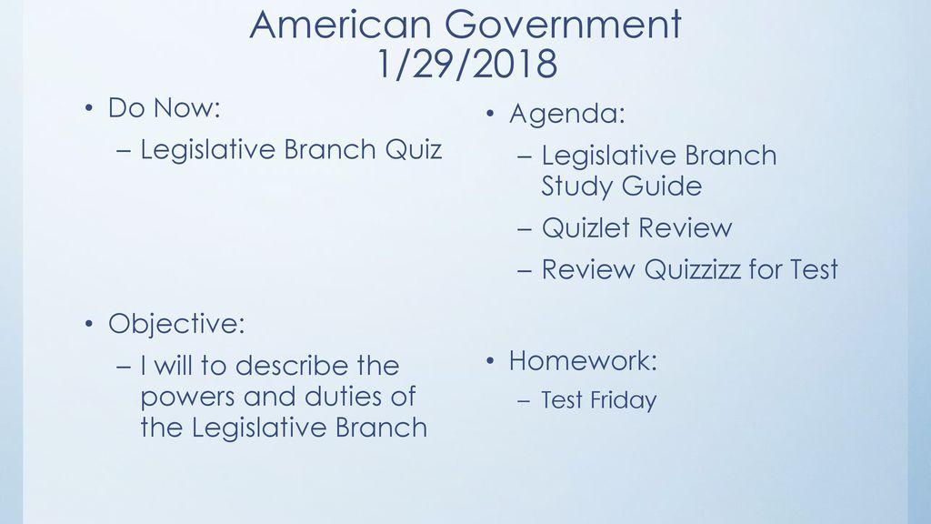 executive branch responsibilities quizlet