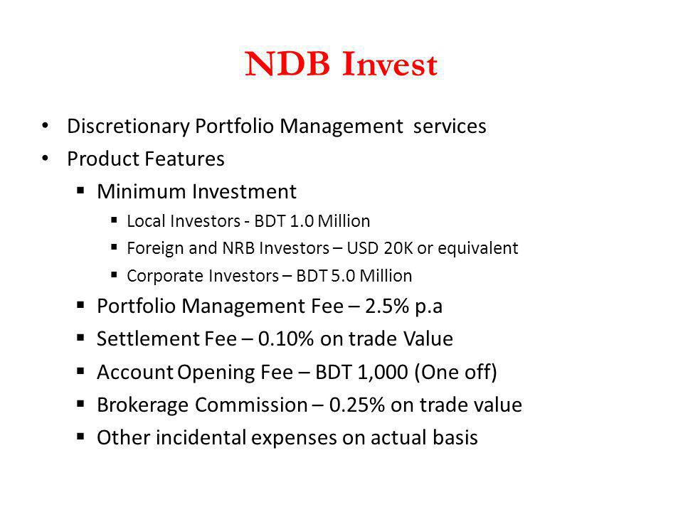 NDB Invest Discretionary Portfolio Management services