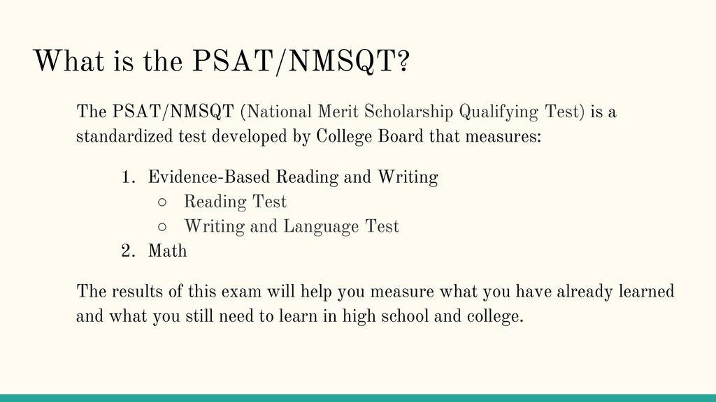PSAT/NMSQT ppt download