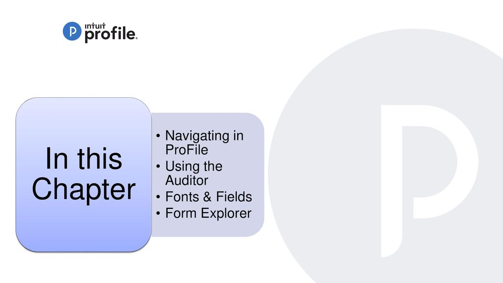 Learning about Taxes with Intuit ProFile - ppt download