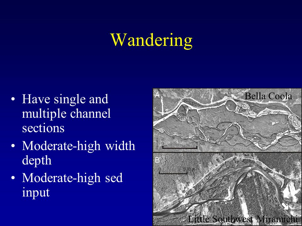 Wandering Have single and multiple channel sections