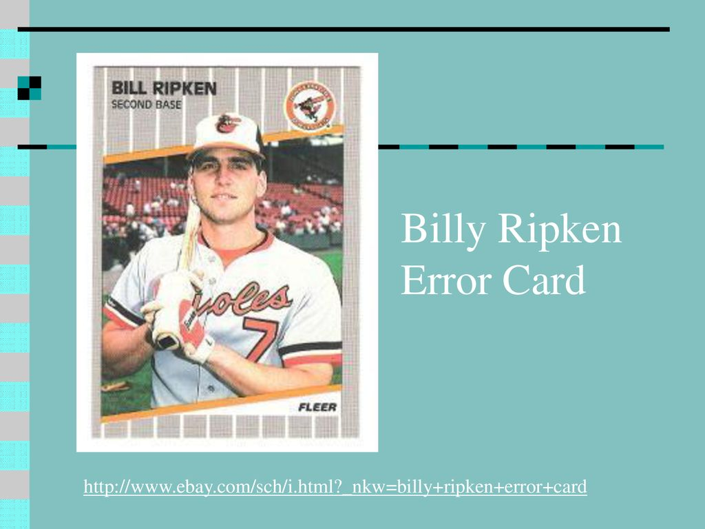 Billy Ripken Error Card Ppt Download