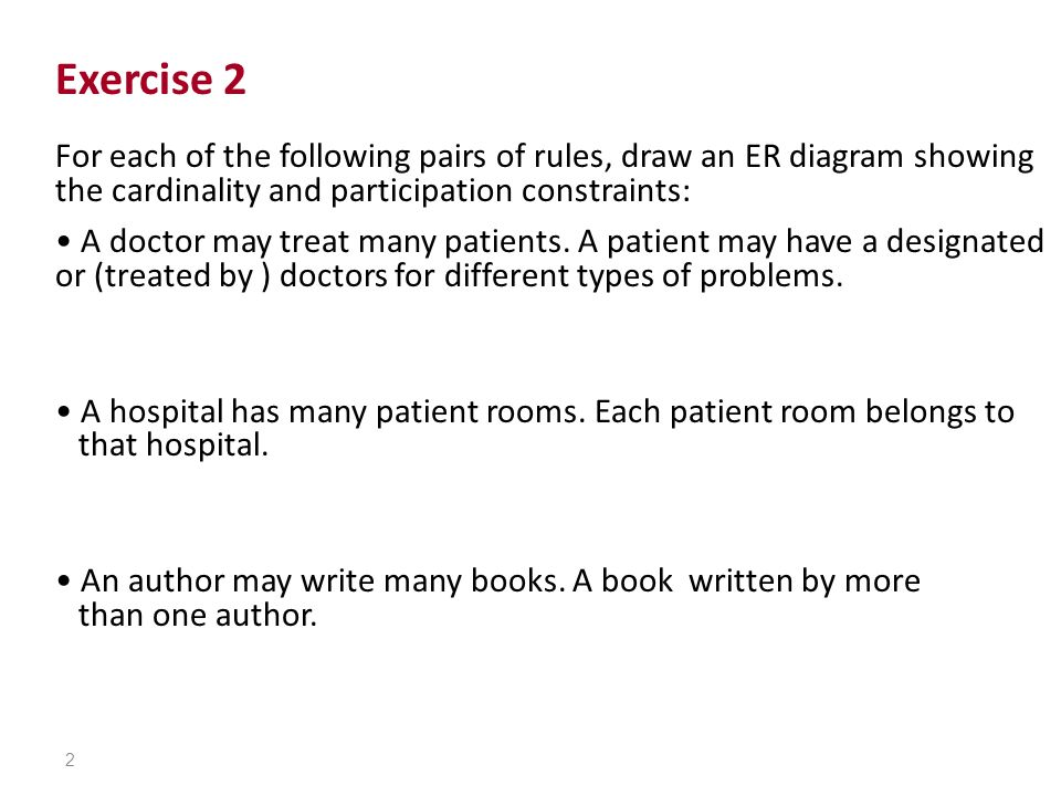 exercise 1 consider the er diagram below assume that an employee OBS Diagram exercise 2 for each of the following pairs of rules draw an er diagram showing
