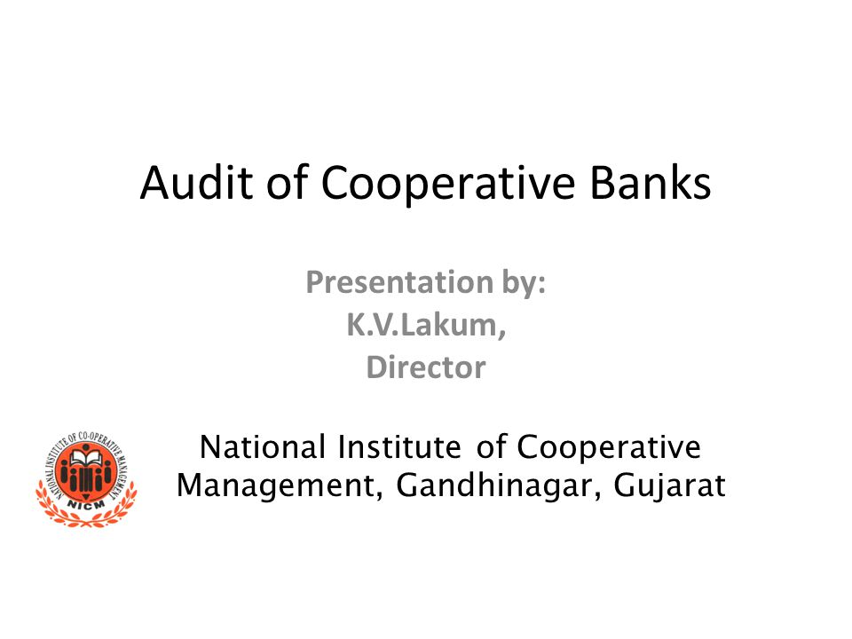 Audit of Cooperative Banks