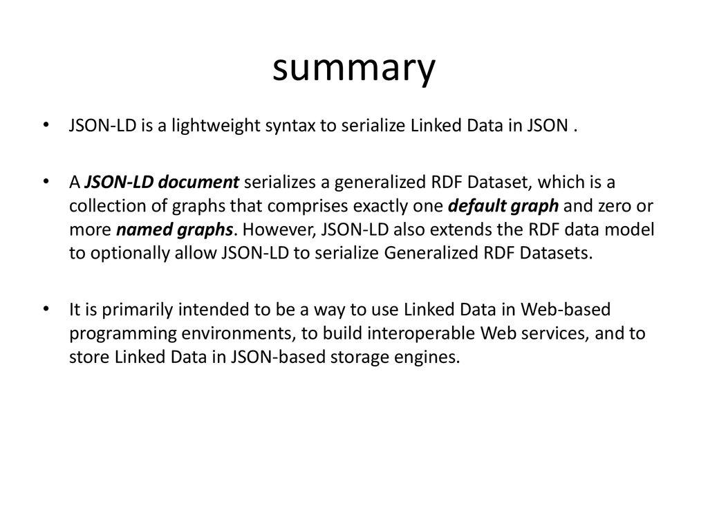 JSON-LD 1 0 Yanan Zhang  - ppt download