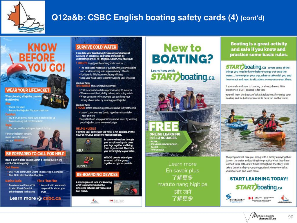 Q12a&b: CSBC English boating safety cards (4) (cont'd)