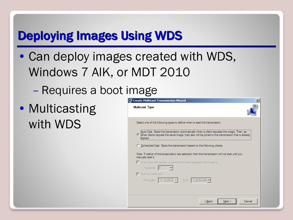 Deploying Windows 7 Lesson ppt download