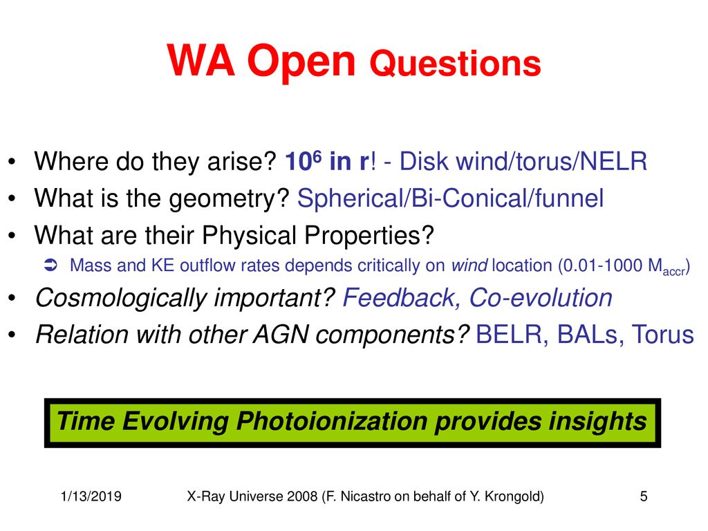 Outflows in AGN: High and Low Resolution X-ray View - ppt