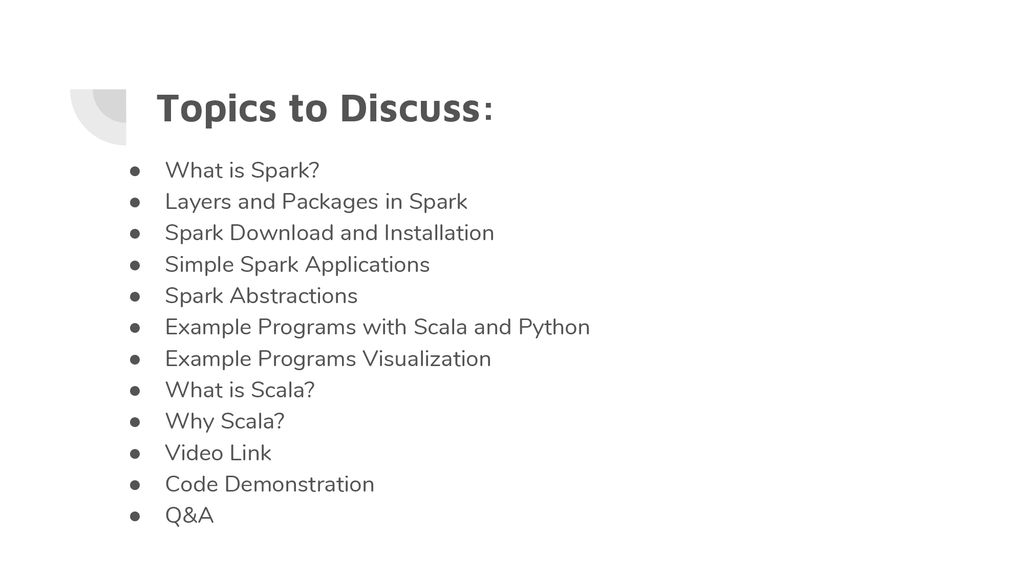 What Is In Spark >> Spark And Scala Ppt Download