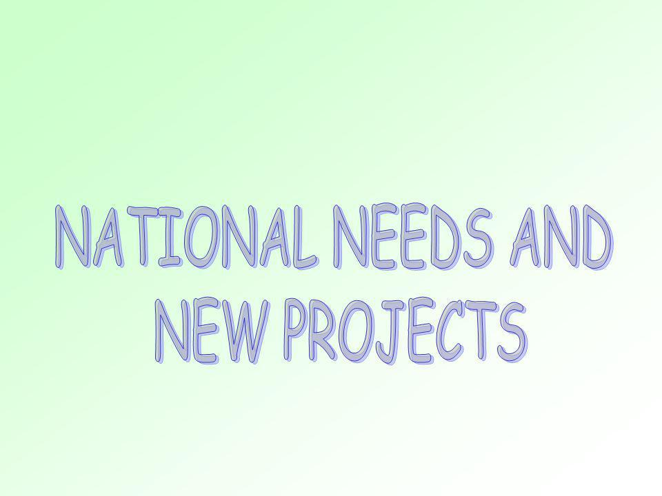 NATIONAL NEEDS AND NEW PROJECTS