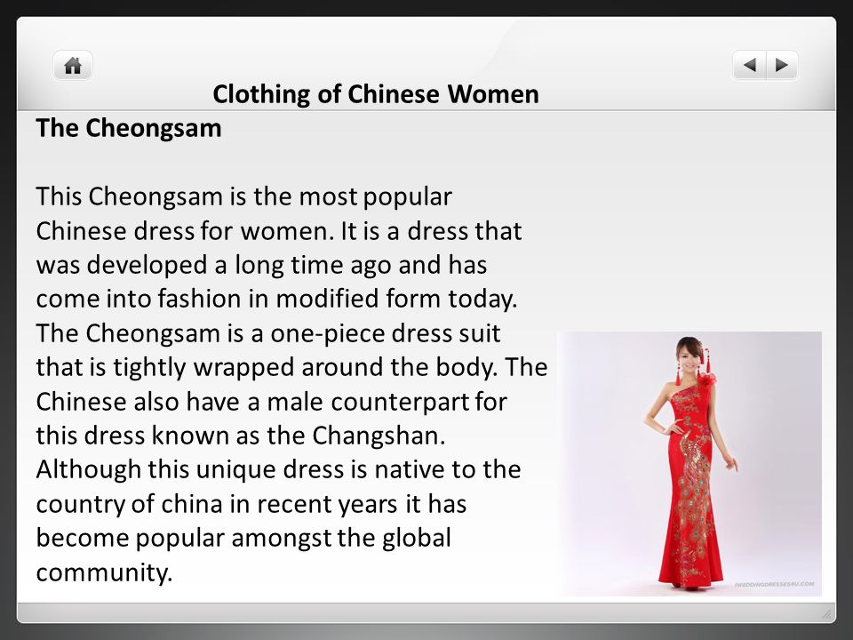 Clothing of Chinese Women