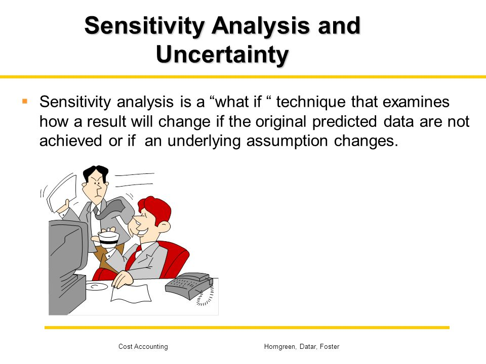 Sensitivity Analysis and Uncertainty