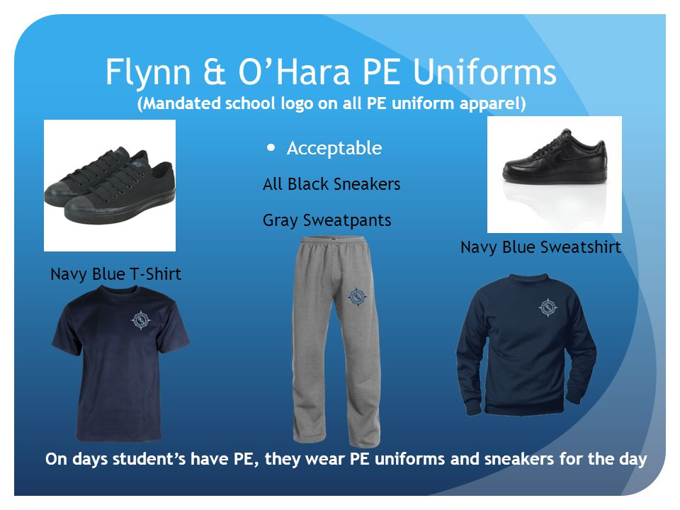 Flynn & O'Hara PE Uniforms (Mandated school logo on all PE uniform apparel)