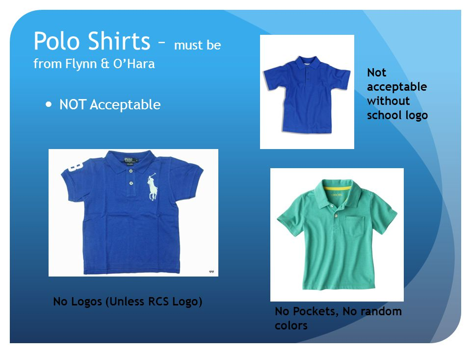 Polo Shirts – must be from Flynn & O'Hara