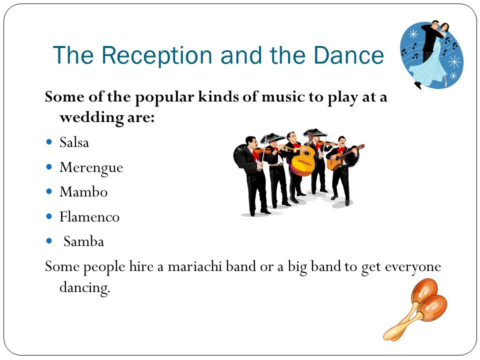 The Reception and the Dance