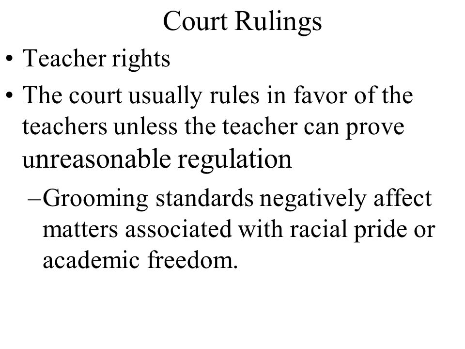 Court Rulings Teacher rights