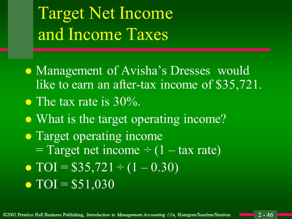 Target Net Income and Income Taxes