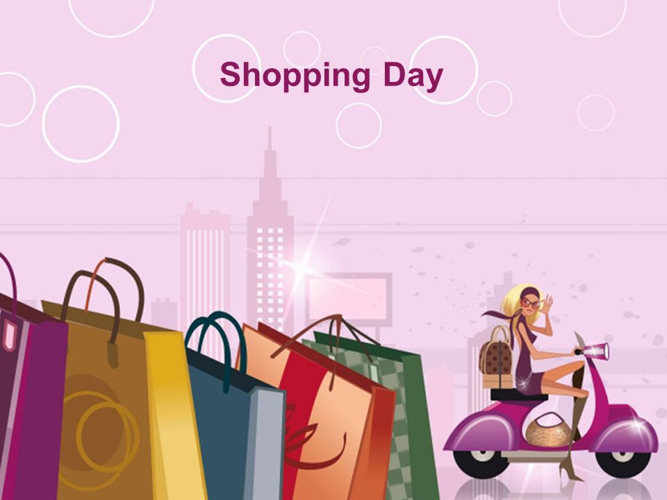 Shopping Day Free Powerpoint Templates