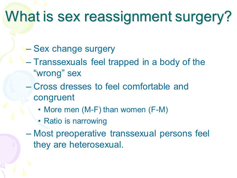 What is sex reassignment surgery