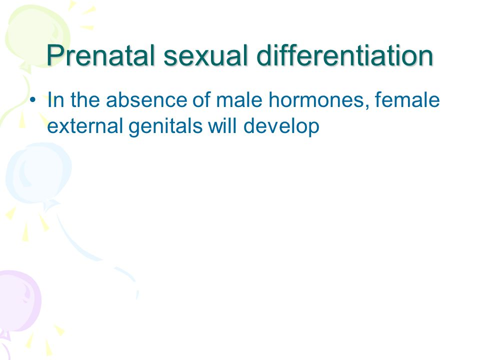Prenatal sexual differentiation